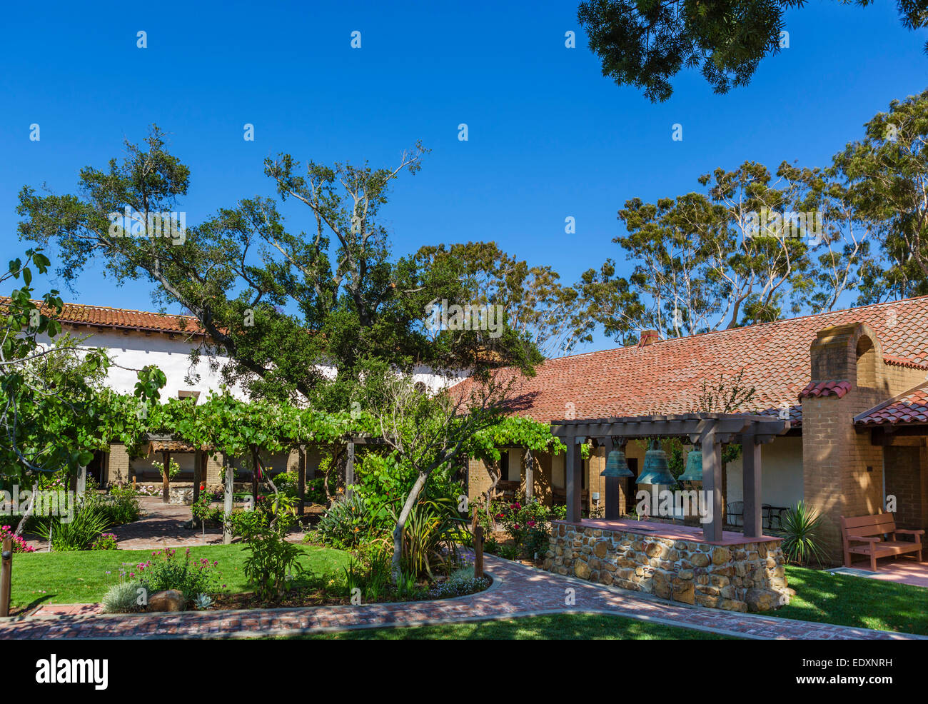 Gardens of Mission San Luis Obispo, California, USA - Stock Image