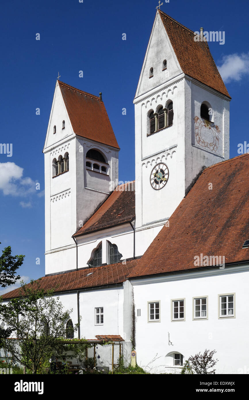 Welfenmünster, Steingaden, Klosterkirche St,  Johannes Baptist, Deutschland, Oberbayern, St,  Johannes Parish - Stock Image