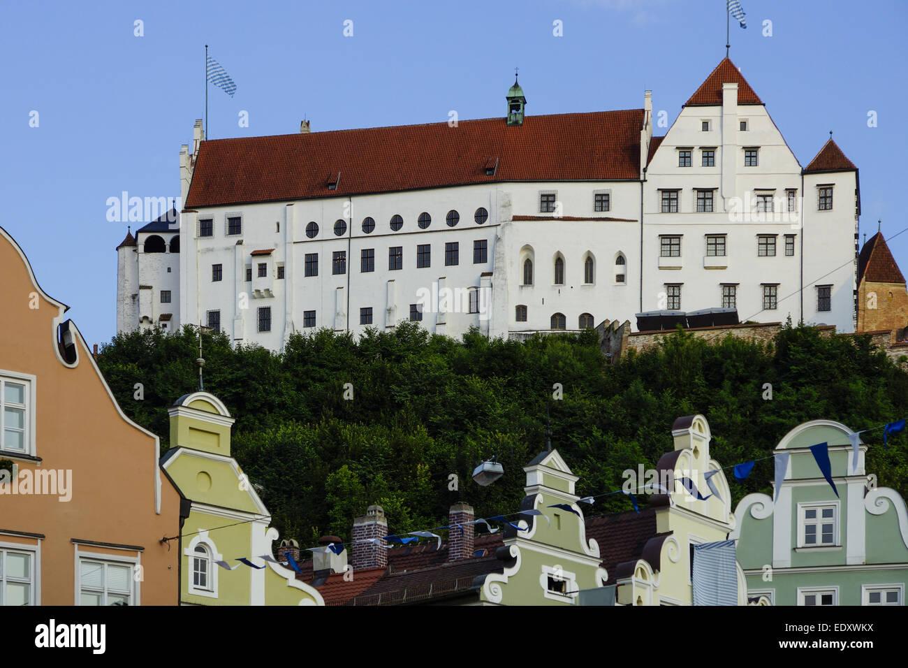 Burg Trausnitz, Landshut, Niederbayern, Bayern, Deutschland, Europa, Castle, Lower Bavaria, Bavaria, Germany, Europe, Stock Photo
