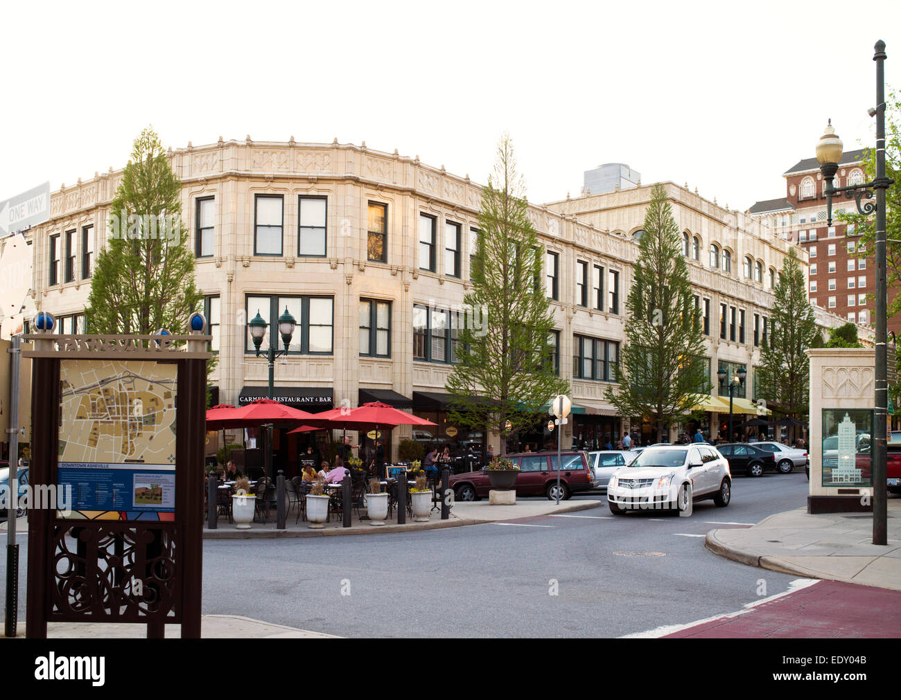 Downtown Asheville, North Carolina - Stock Image