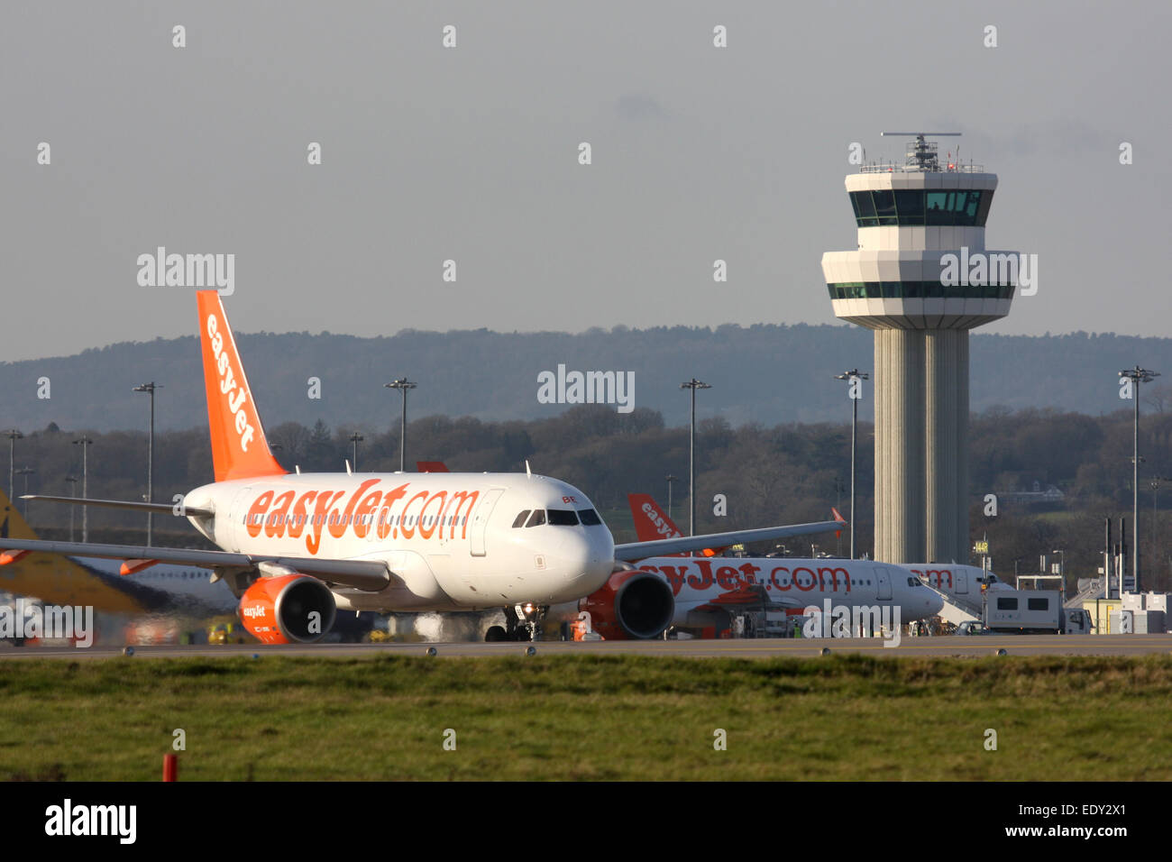 EASYJET AT LGW GATWICK AIRPORT - Stock Image