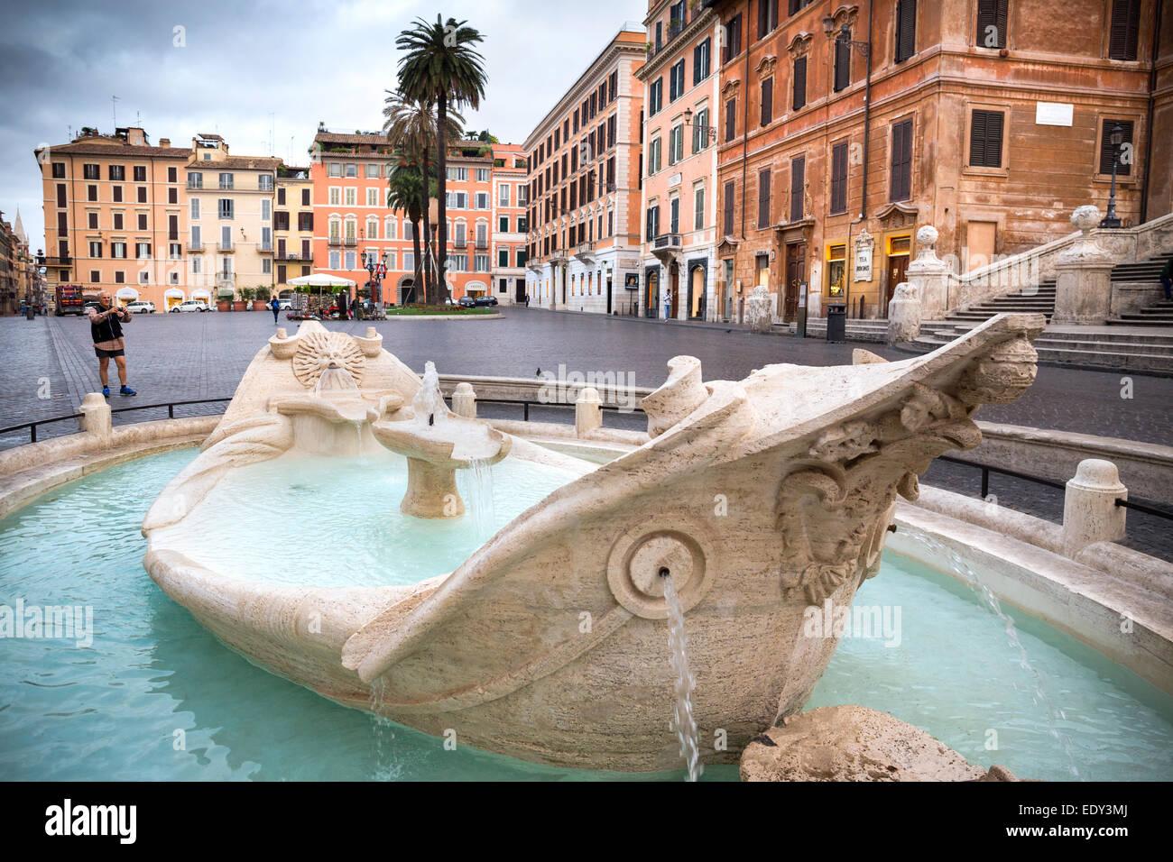 Piazza di Spagna, Rome, Italy - Stock Image