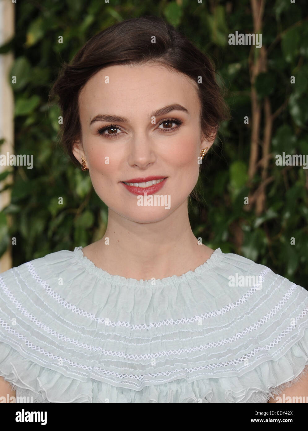 Los Angeles, California, USA. 11th Jan, 2015. Keira Knightley attending the 72nd Annual Golden Awards - Arrivals - Stock Image