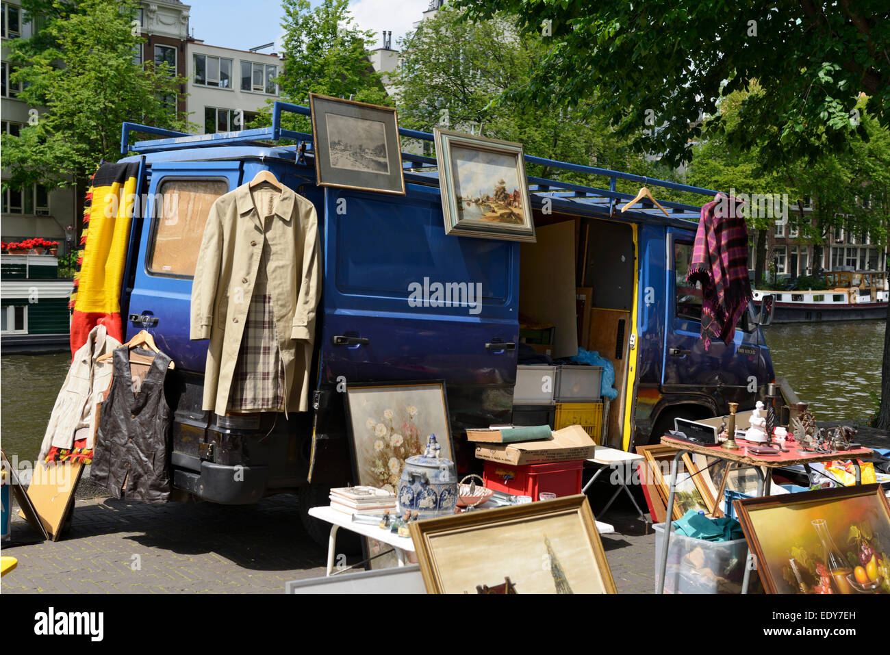 Waterlooplein Flea Market, Amsterdam, North Holland, Netherlands, Europe - Stock Image