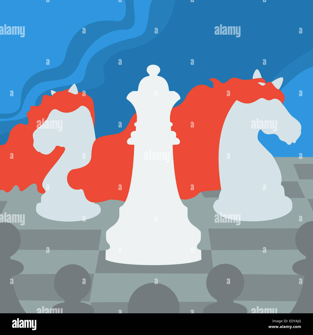 Chess Figures - Stock Image