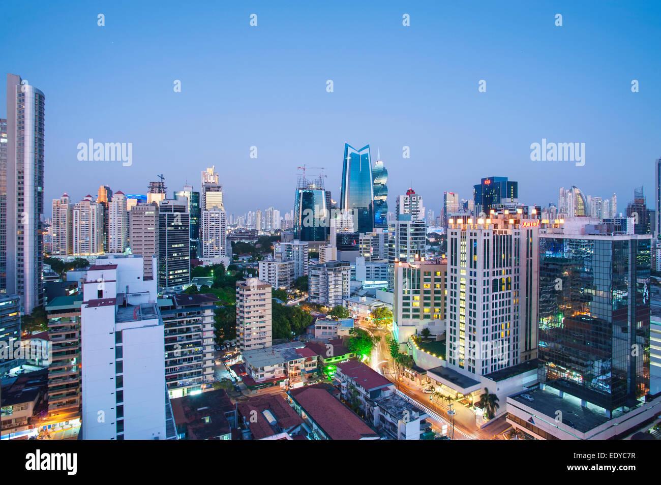 Skyline of Panama City, Panama - Stock Image