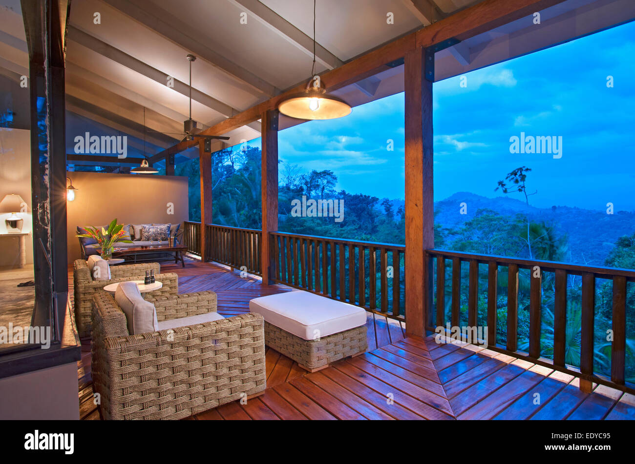 Ridge suite at Belcampo Belize - Stock Image