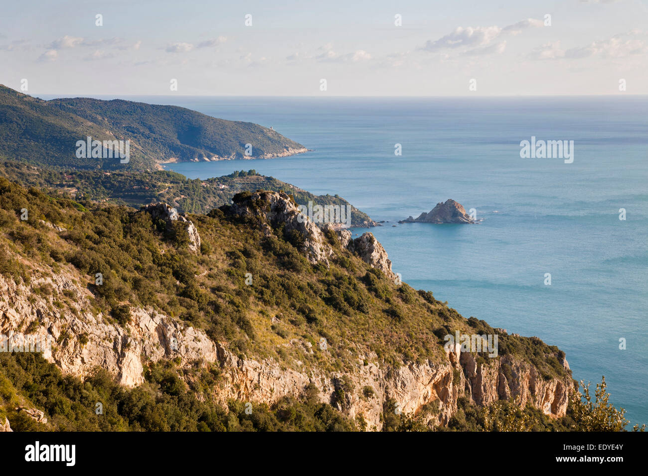 panorama, argentario, tuscany, italy, europe - Stock Image