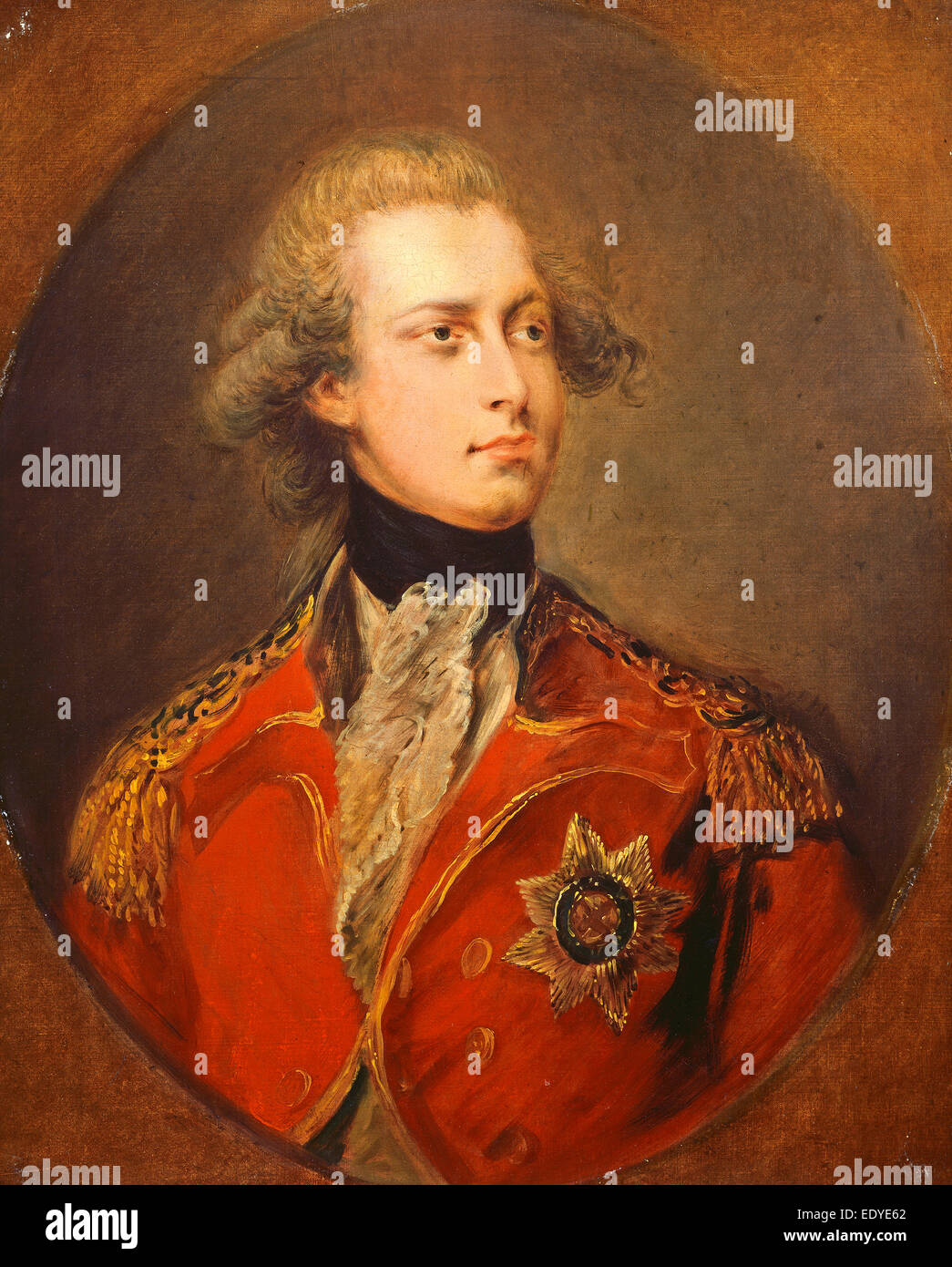 Gainsborough Dupont (British, 1754 - 1797), George IV as Prince of Wales, 1781, oil on canvas - Stock Image