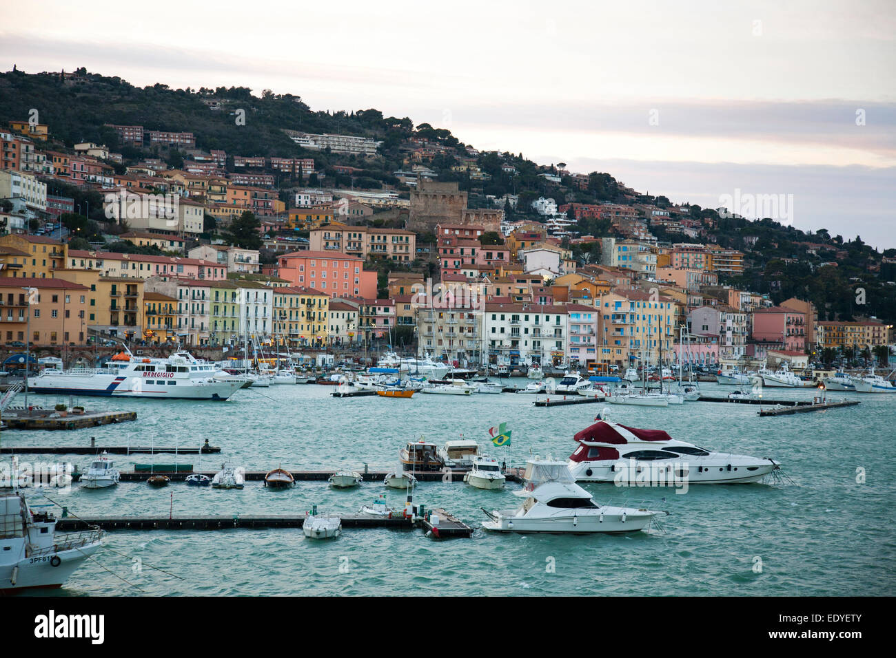 porto santo stefano, argentario, tuscany, italy, europe - Stock Image