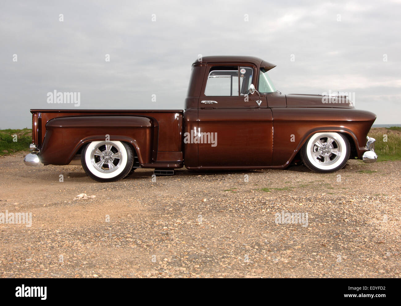 Modified 1957 Chevy 3100 step-side pickup truck Stock ...