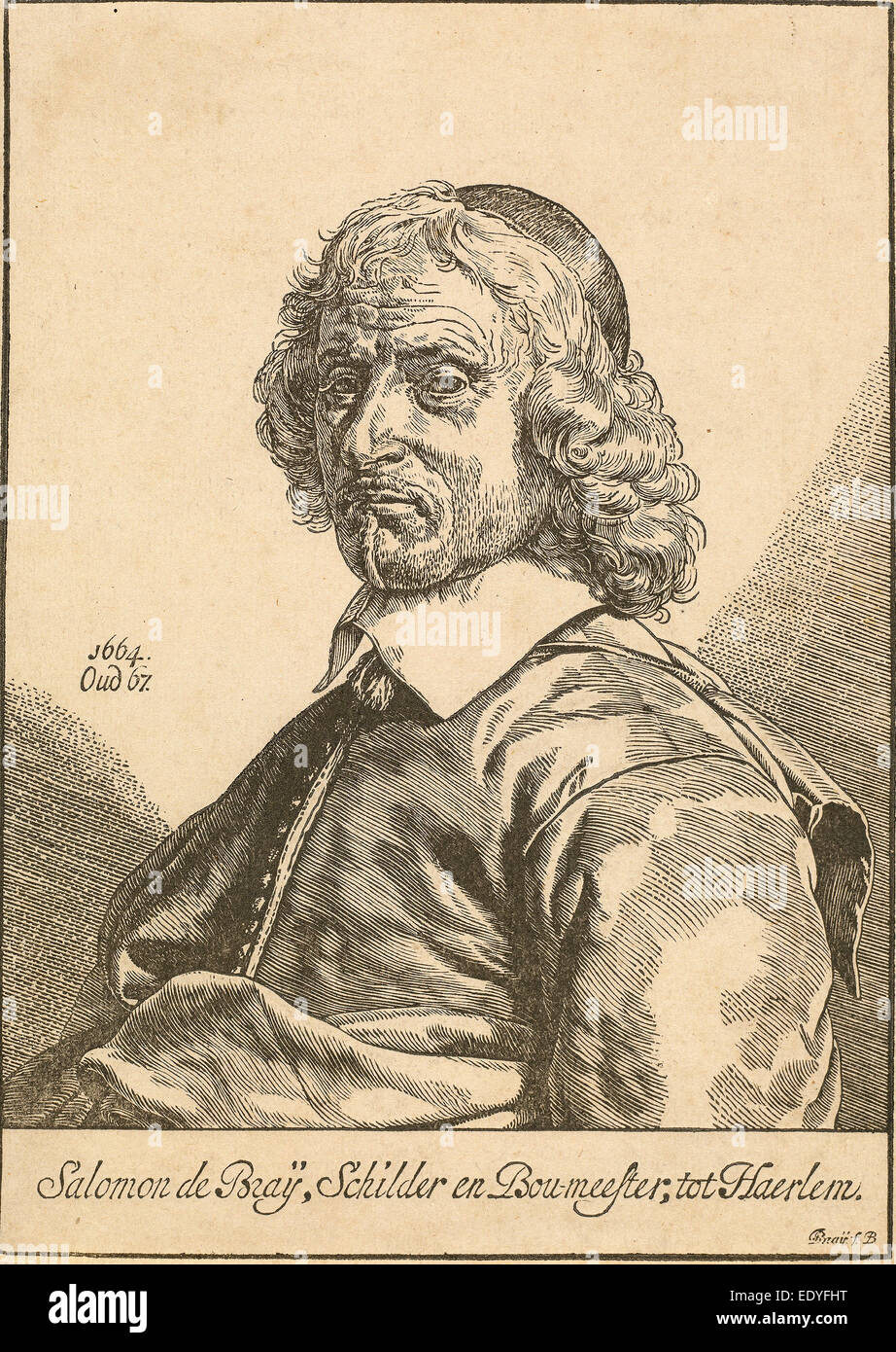 Dirck de Bray (Dutch, active 1651-1678), Solomon de Bray, woodcut - Stock Image