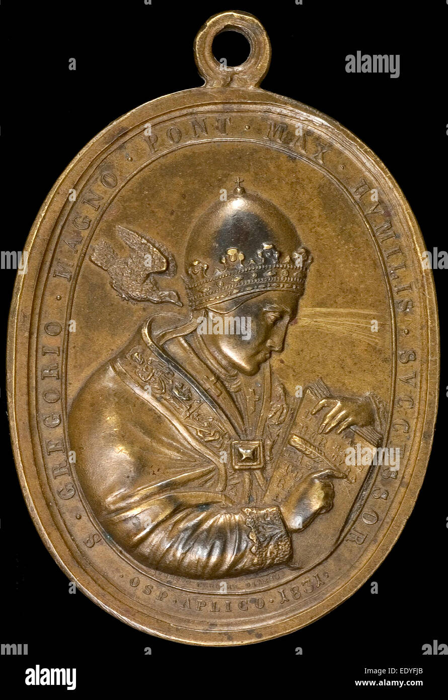 Giuseppe Cerbara, Gregory XVI (Bartolomeo Alberto Cappellari, 1765-1846), Pope 1830 [obverse], Italian, 1770 - 1856, - Stock Image