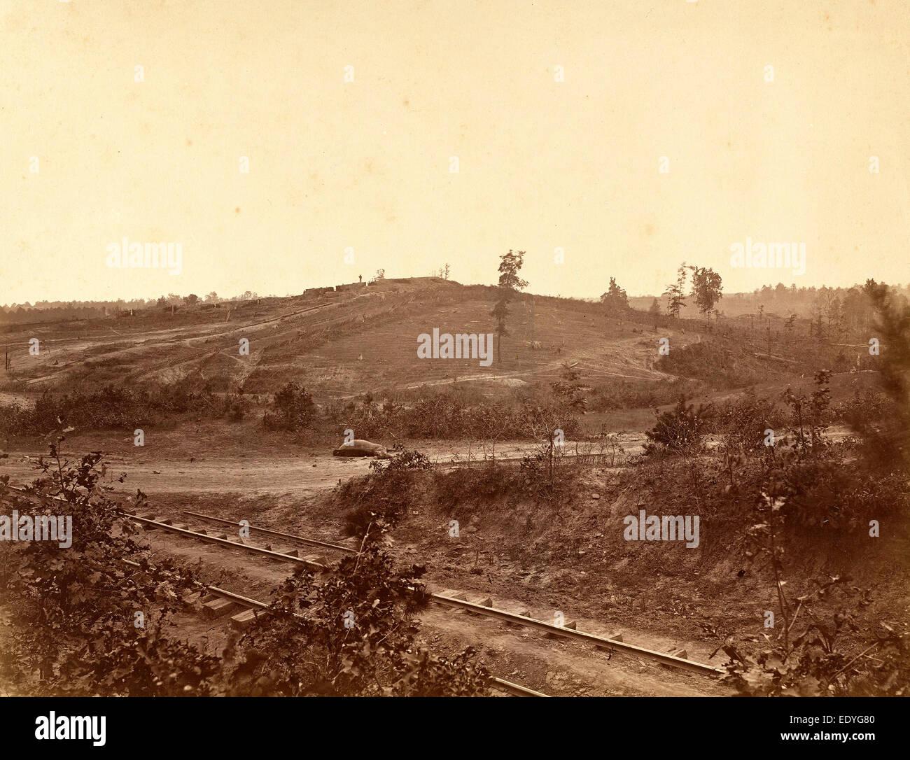 George N. Barnard, Battlefield in Atlanta, American, 1819 - 1902, 1864, albumen print from collodion negative - Stock Image