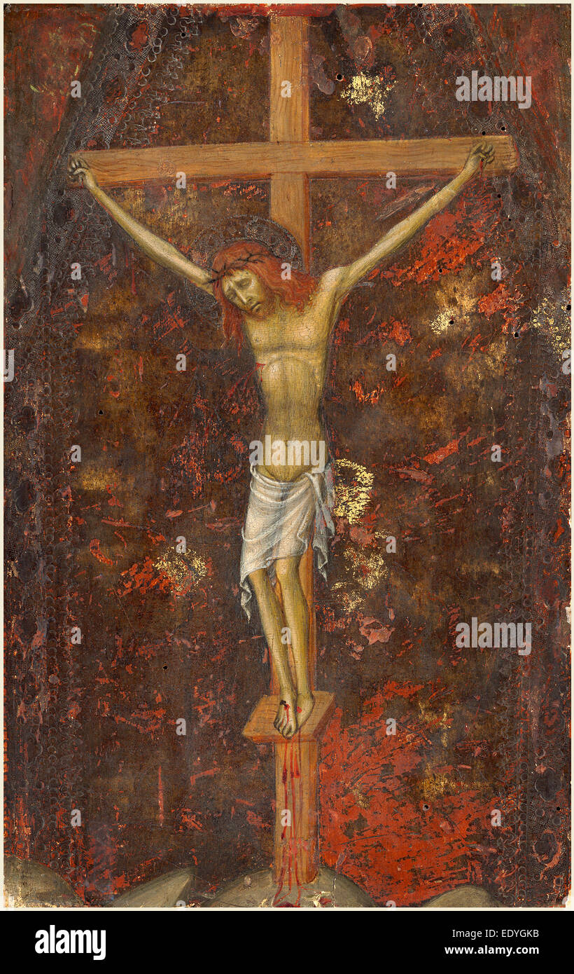 Andrea di Bartolo, Italian (documented from 1389-died 1428), The Crucifixion , c. 1415, tempera on panel - Stock Image
