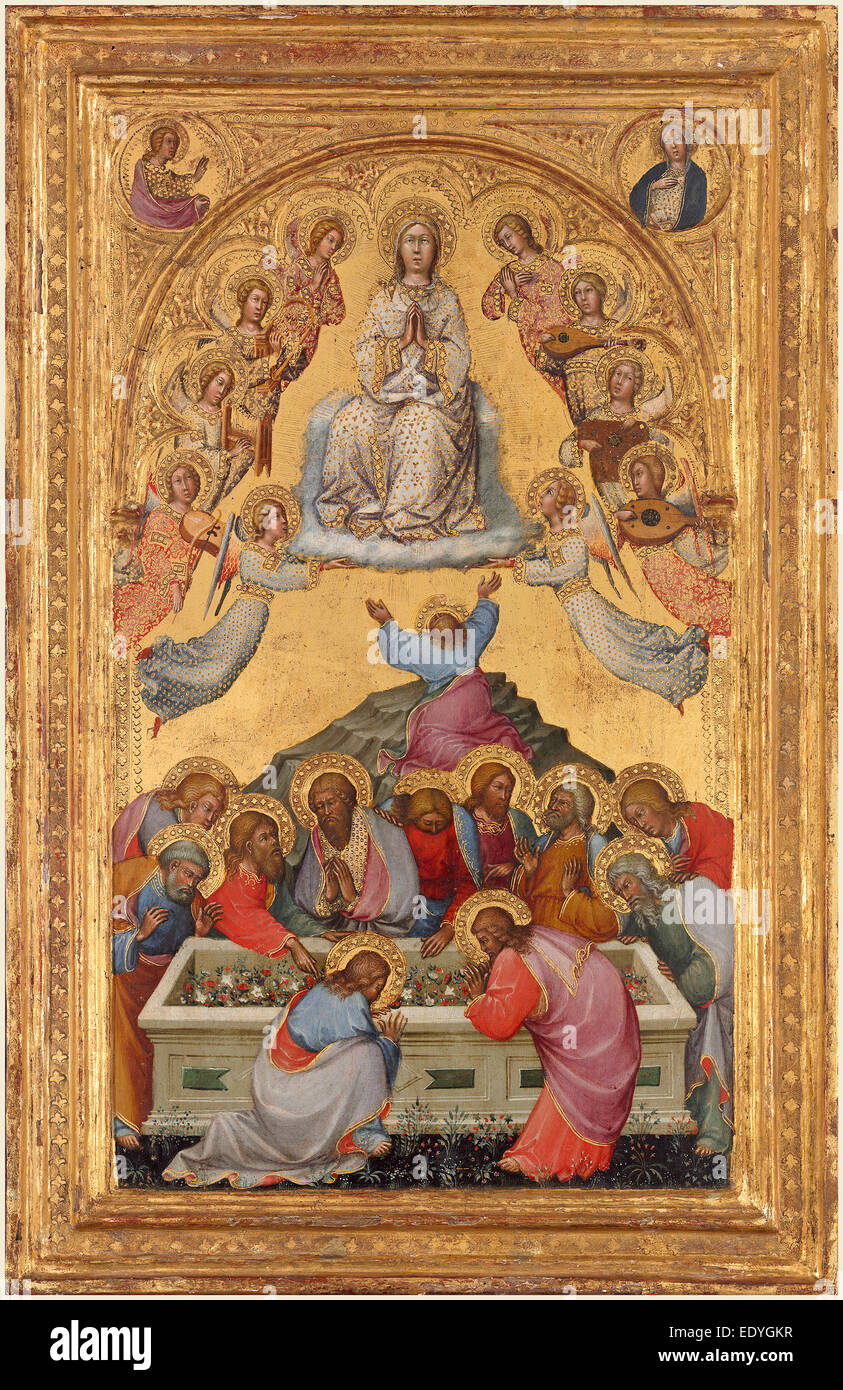 Paolo di Giovanni Fei, Italian (mentioned 1369-1411), The Assumption of the Virgin, probably c. 1385, tempera on - Stock Image
