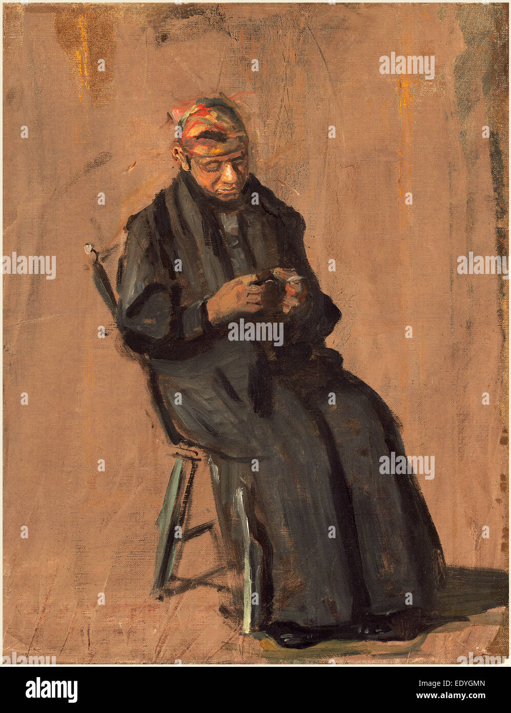 Thomas Eakins, The Chaperone, American, 1844-1916, c. 1908, oil on canvas - Stock Image