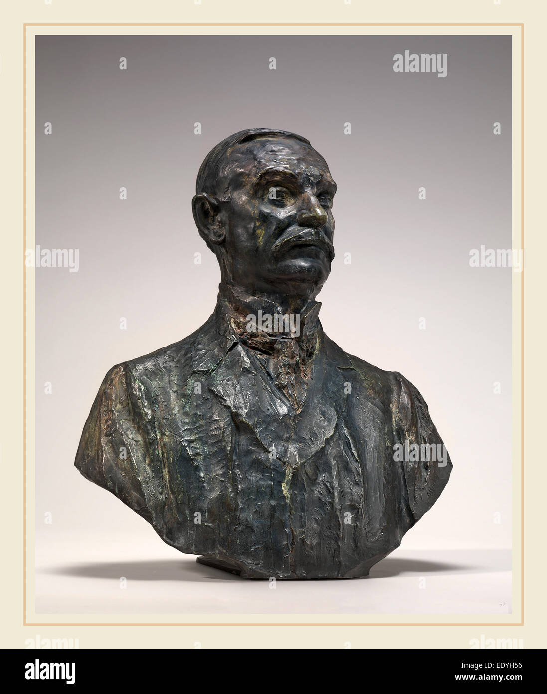 Auguste Rodin, Thomas Fortune Ryan, French, 1840-1917, 1909-1910, bronze - Stock Image