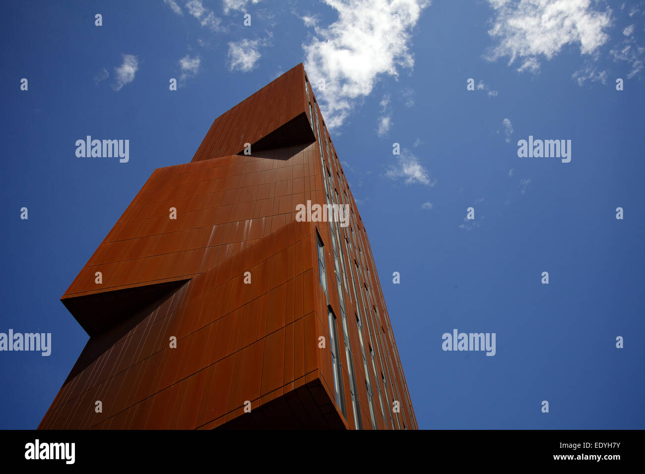 shot of Broadcasting Tower against a blue sky Stock Photo