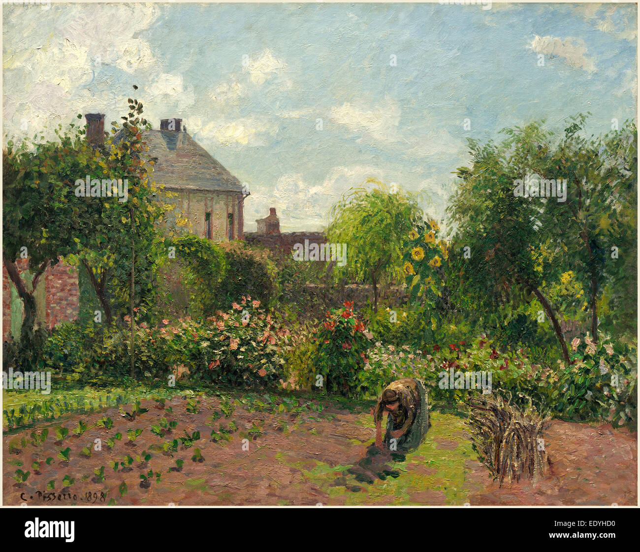 Camille Pissarro, French (1830-1903), The Artist's Garden at Eragny, 1898, oil on canvas - Stock Image