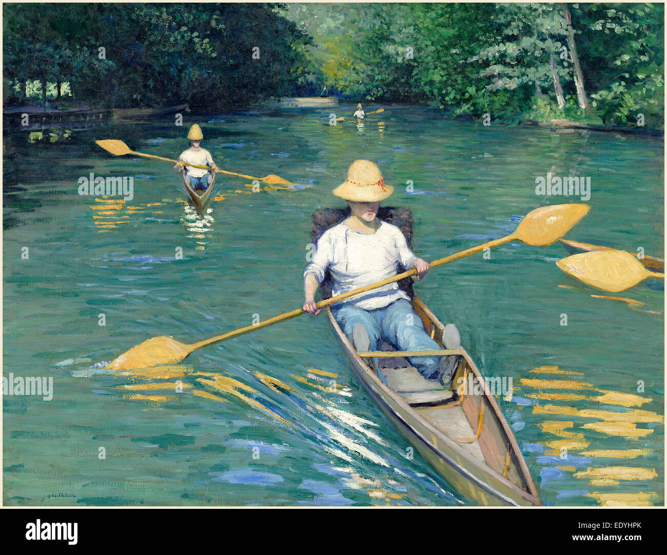 Gustave Caillebotte, French (1848-1894), Skiffs, 1877, oil on canvas - Stock Image