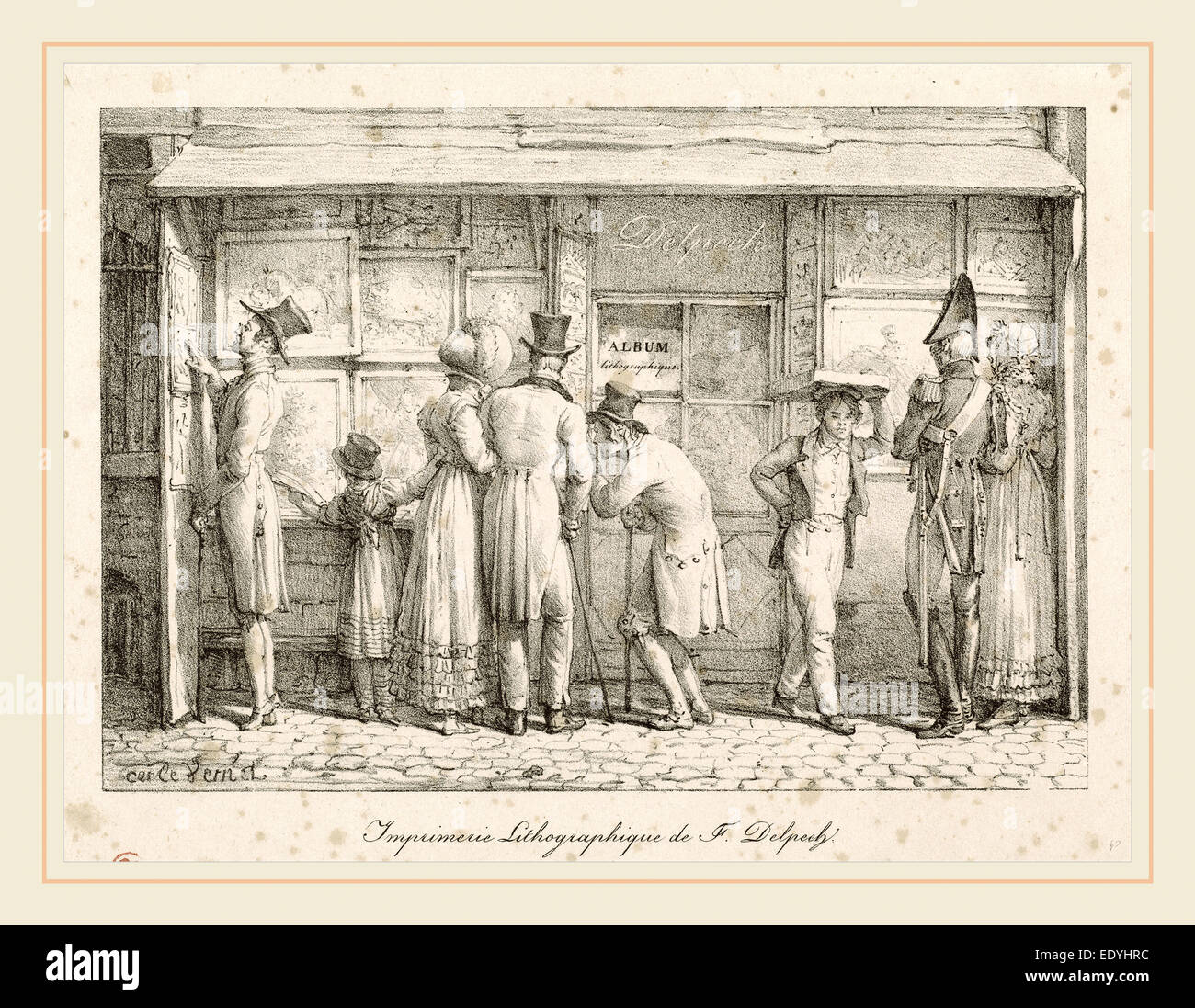 Carle Vernet, French (1758-1836), Lithographic Printing House of F. Delpech, lithograph - Stock Image