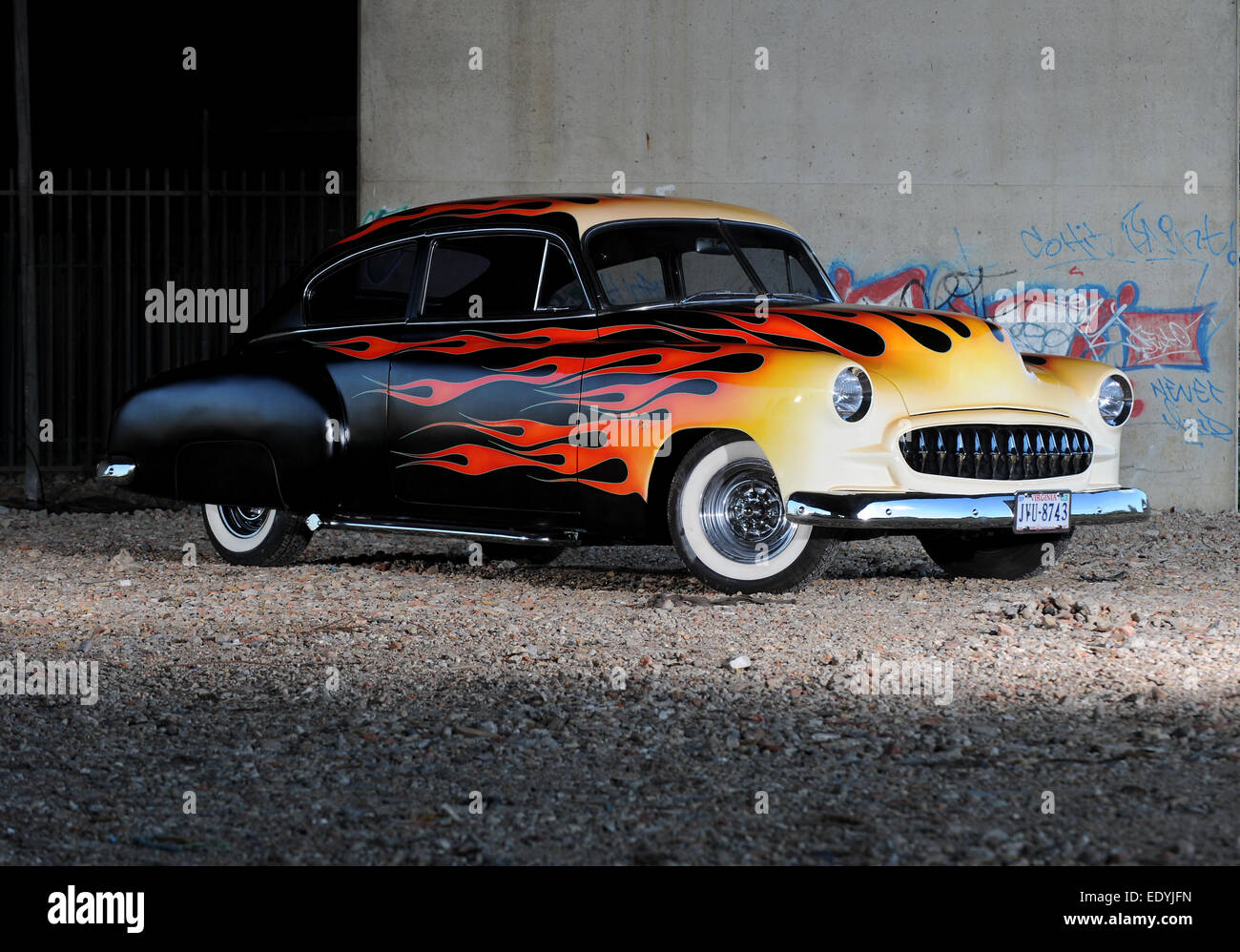 1949 Chevrolet Stock Photos Images Alamy Chevy Pickup Hot Rod Flame Painted Custom Hotrod Car Image