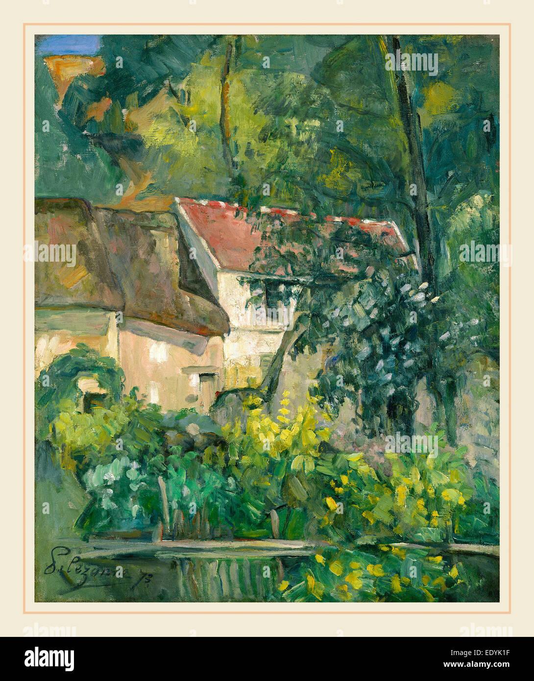 Paul Cézanne, French (1839-1906), House of Père Lacroix, 1873, oil on canvas - Stock Image