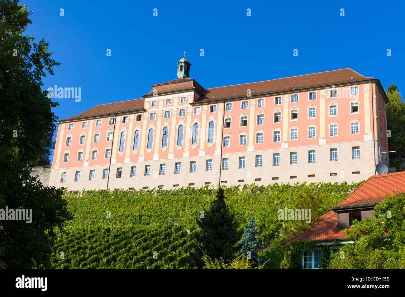 Droste-Hülshoff-Gymnasium, secondary school and boarding school, Meersburg, Bavaria, Germany - Stock Image