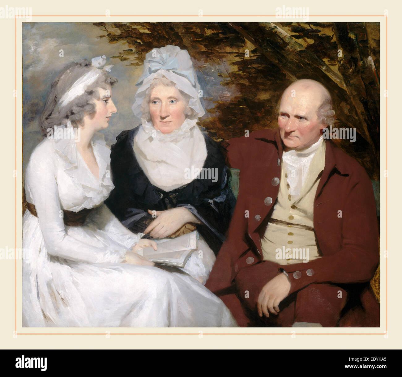 Sir Henry Raeburn, John Johnstone, Betty Johnstone, and Miss Wedderburn, Scottish, 1756-1823, c. 1790-1795, oil - Stock Image