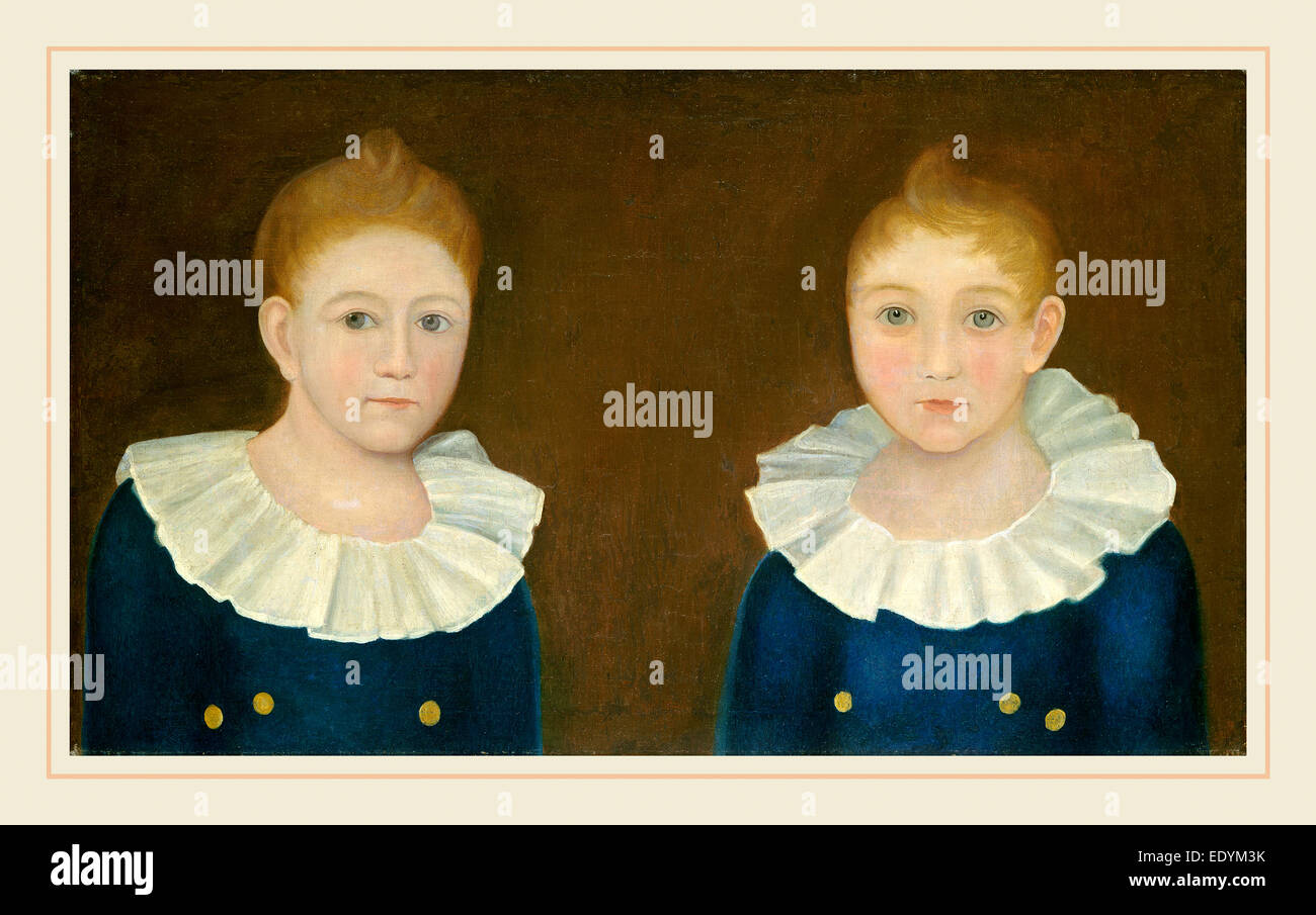 American 19th Century, The Congdon Brothers, c. 1830, oil on canvas - Stock Image