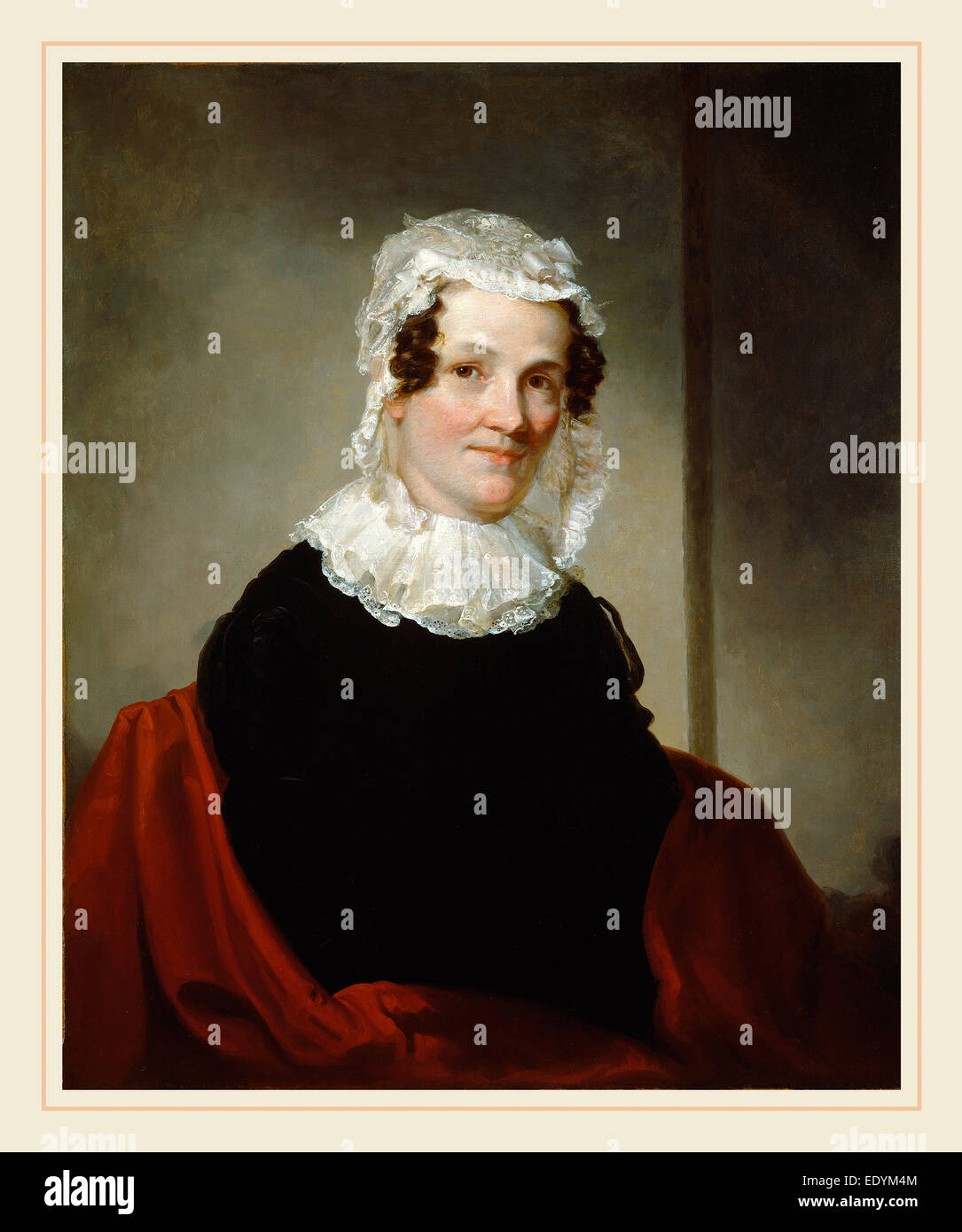 Samuel Finley Breese Morse, Lydia Coit Terry (Mrs. Eliphalet Terry), American, 1791-1872, c. 1824, oil on canvas - Stock Image