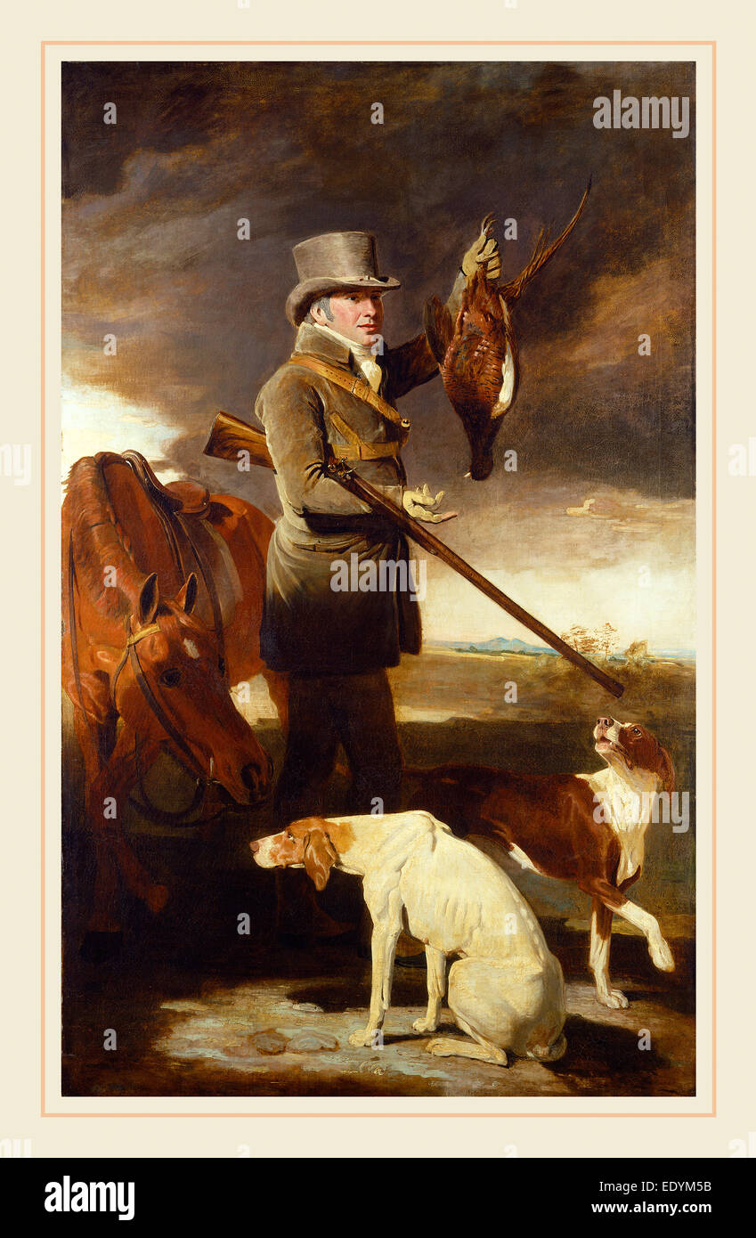 Benjamin Marshall, British (1768-1835), J.G. Shaddick, the Celebrated Sportsman, 1806, oil on canvas - Stock Image