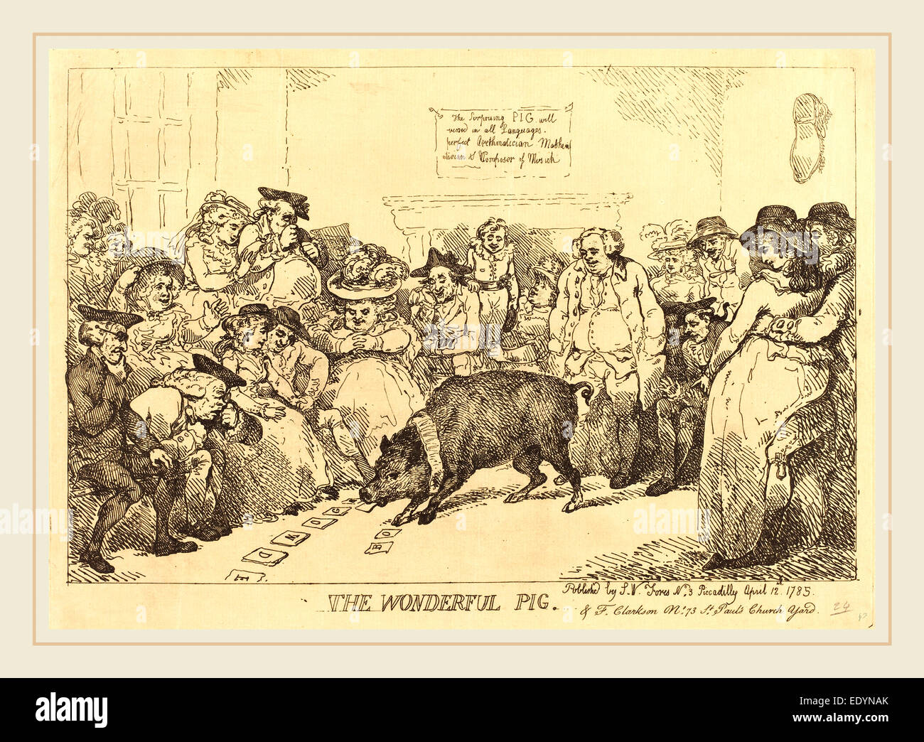 Thomas Rowlandson, British (1756-1827), The Wonderful Pig, 1785,