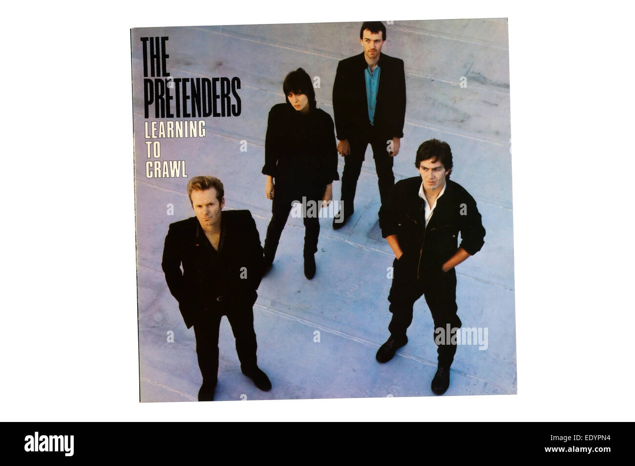 Learning to Crawl was the third album released by The Pretenders in 1984. - Stock Image