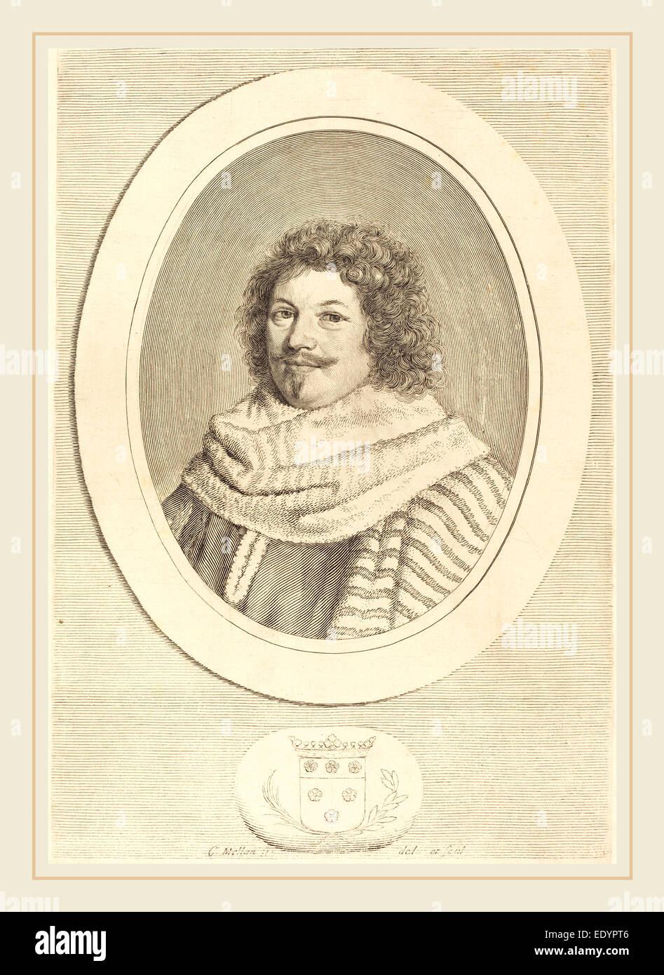 Claude Mellan, French (1598-1688), René de Longueil, engraving on laid paper Stock Photo