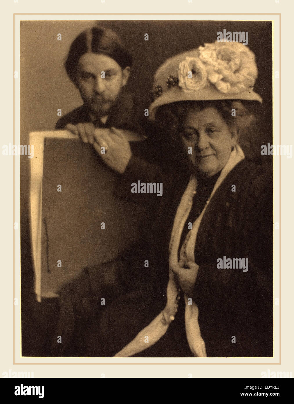 Clarence H. White, Alvin Langdon Coburn and His Mother, American, 1871-