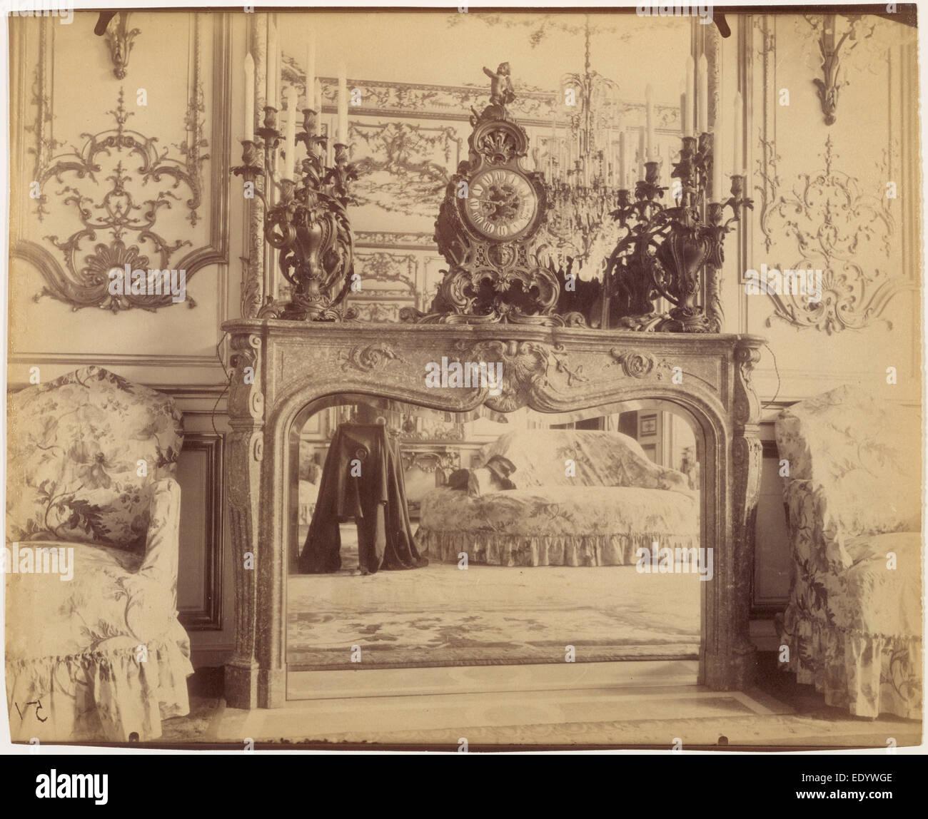The Austrian Embassy, 57 rue de Varenne; Eugène Atget, French, 1857 - 1927; Paris, France, Europe; 1905; Albumen - Stock Image