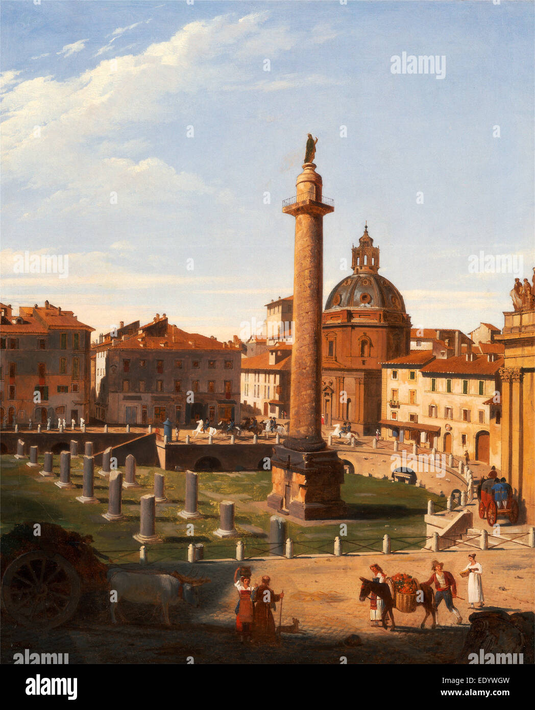 A View of Trajan's Forum, Rome, Italy Charles Lock Eastlake, 1793-1865, British - Stock Image