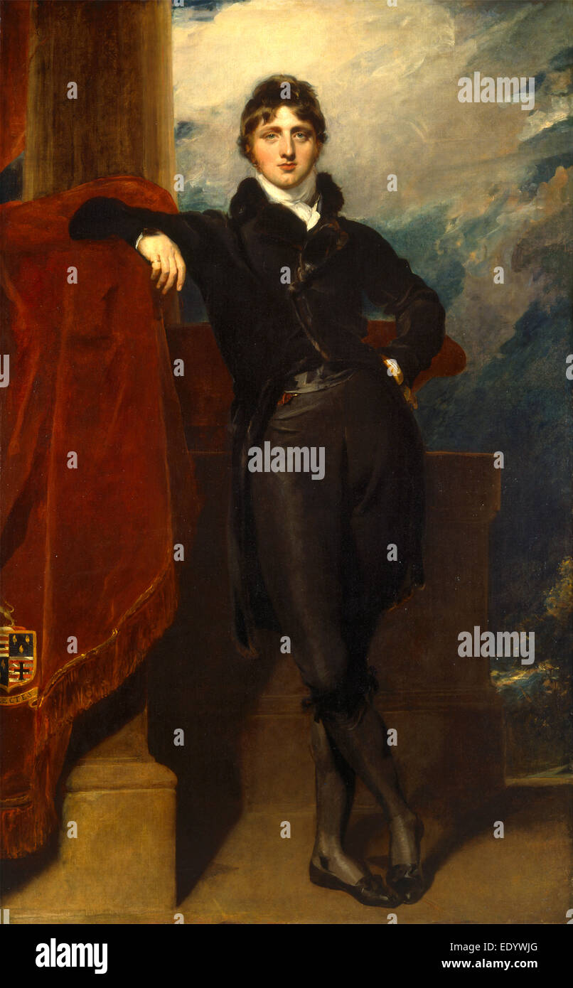 Lord Granville Leveson-Gower, later 1st Earl Granville, Sir Thomas Lawrence, 1769-1830, British - Stock Image