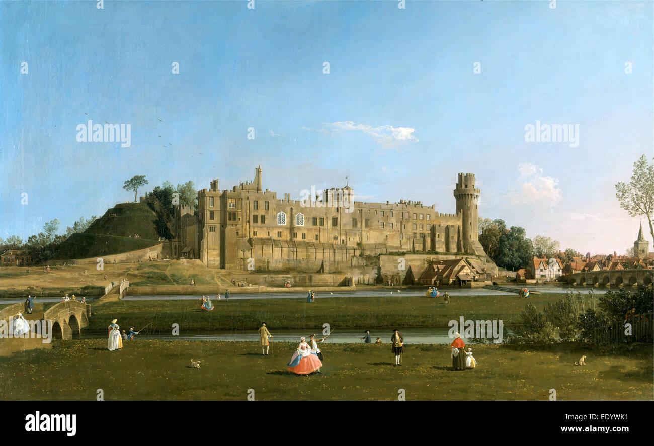 Warwick Castle, Canaletto, 1697-1768, Italian - Stock Image