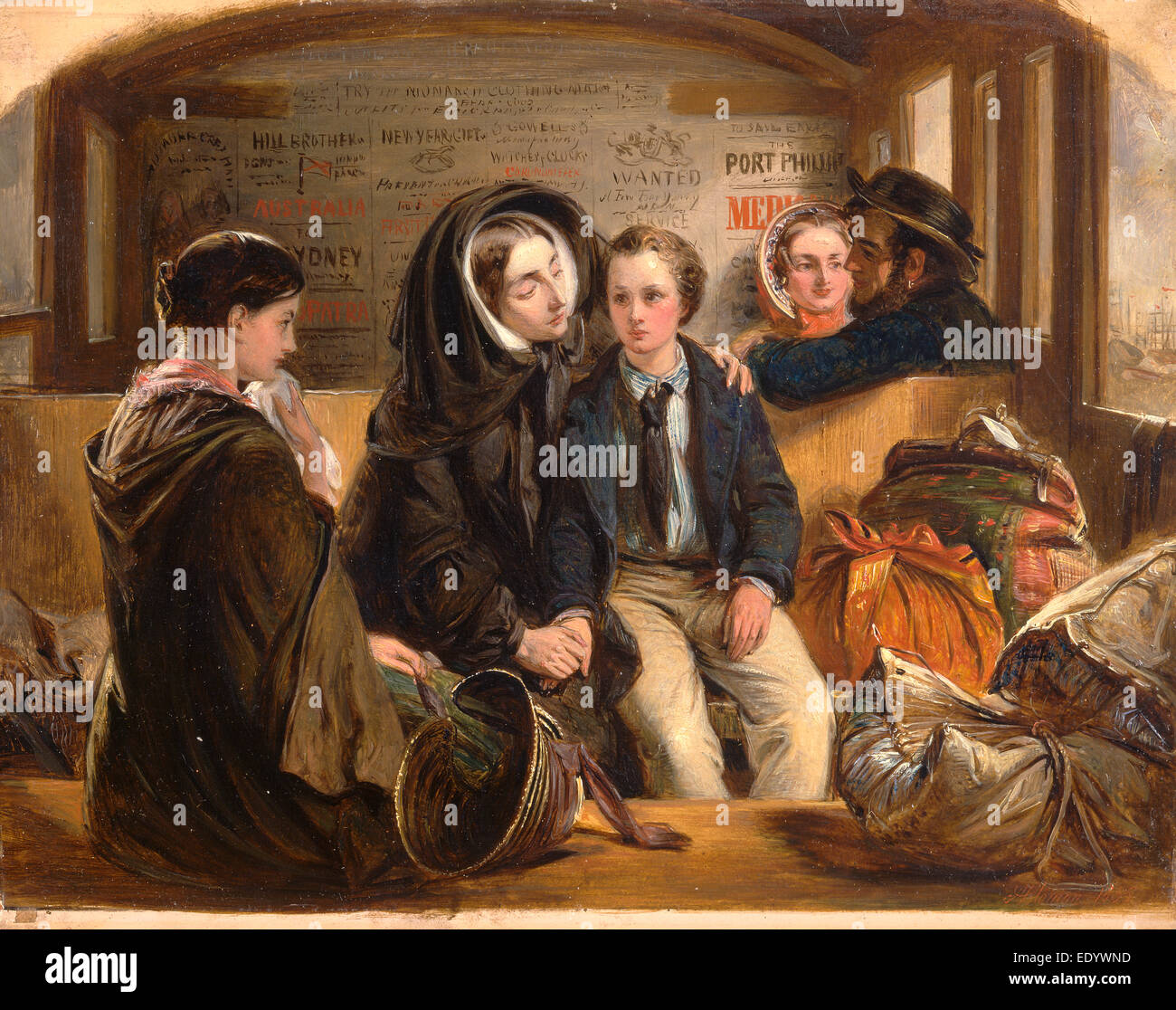Second Class - The Parting. 'Thus part we rich in sorrow, parting poor.' Third Class - The Parting, Railway - Stock Image