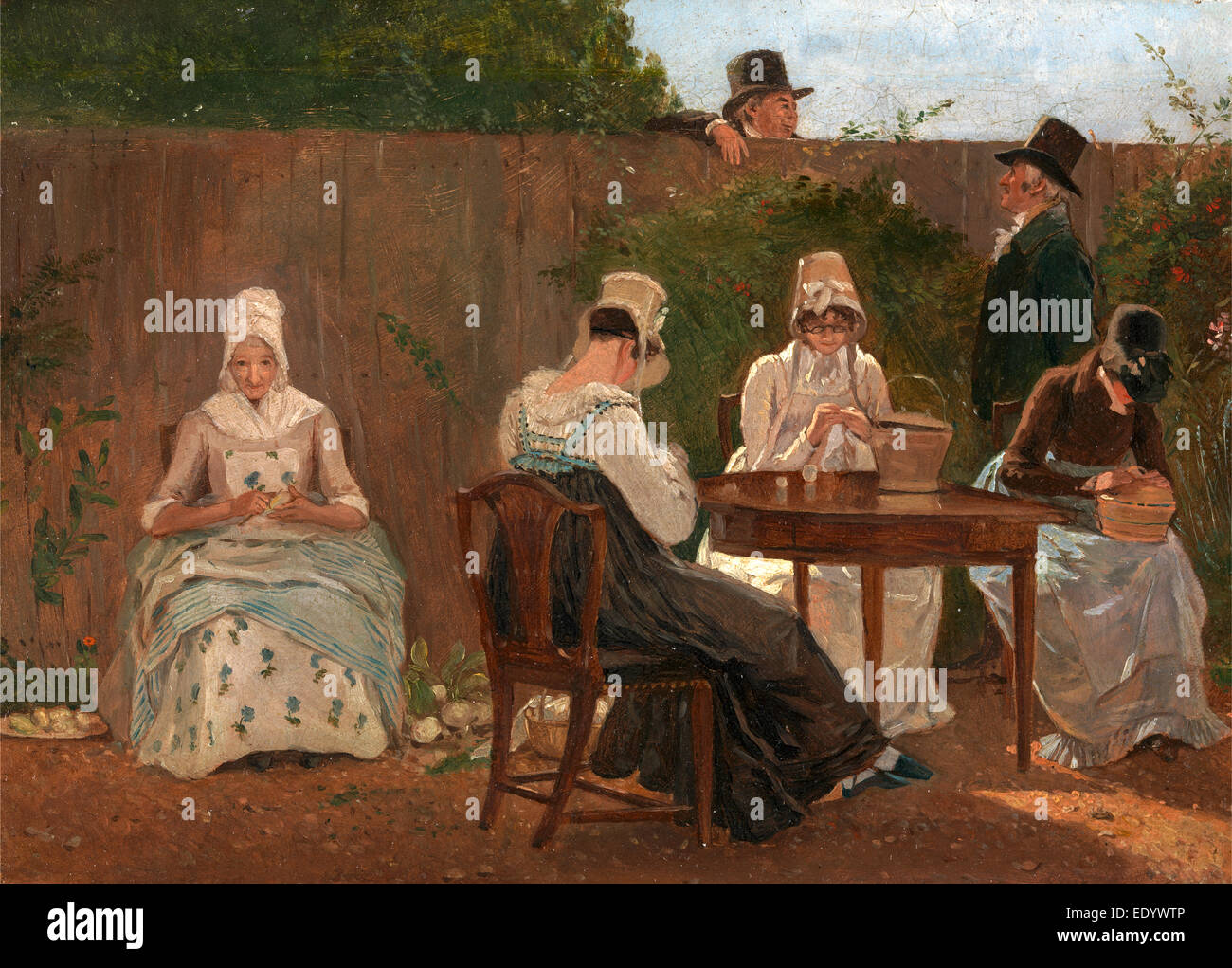 The Chalon Family in London, Jacques-Laurent Agasse, 1767-1849, Swiss - Stock Image