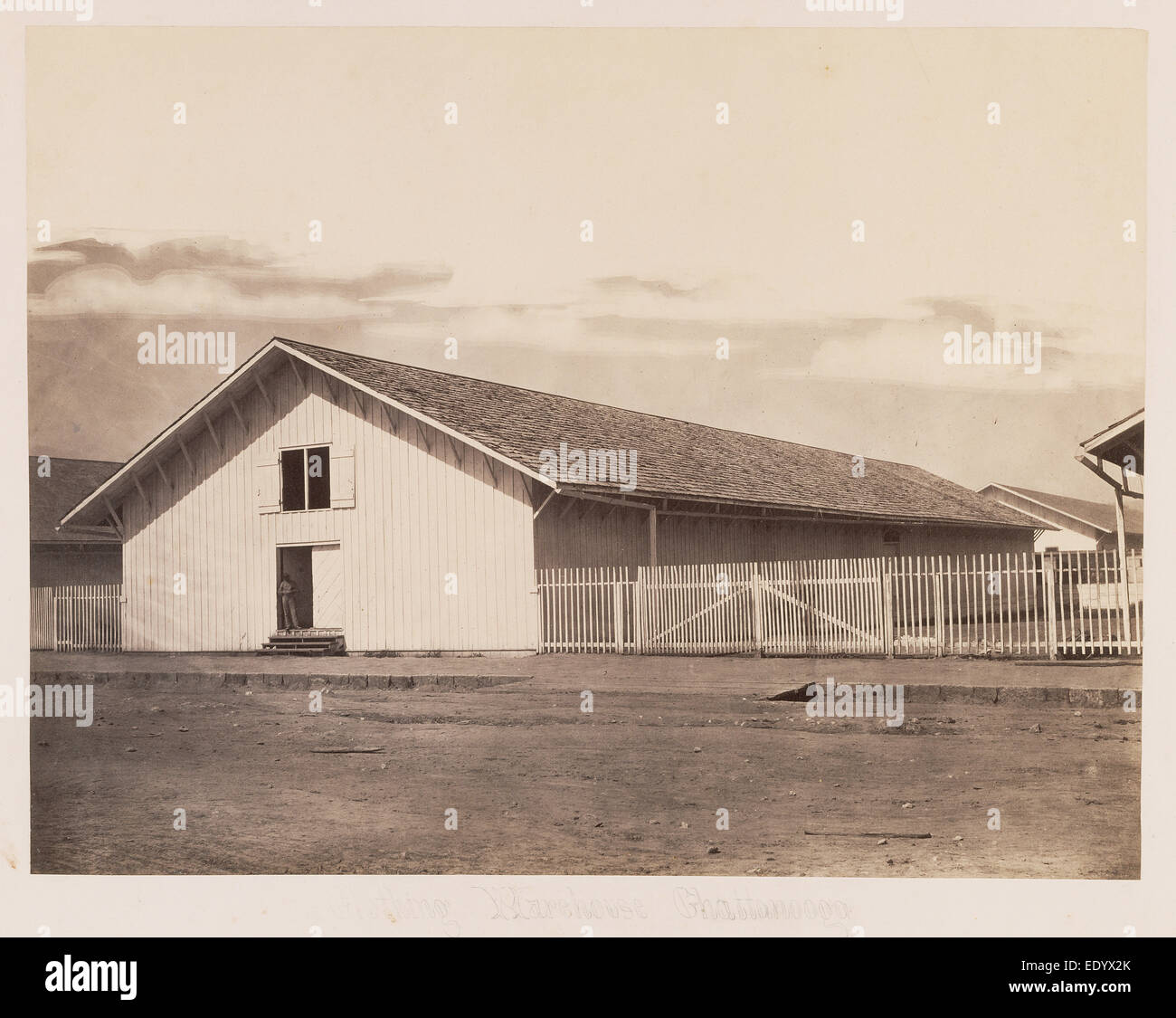 [Clothing Warehouse, Chattanooga]; George N. Barnard, American, 1819 - 1902; negative about 1864; print 1865 - Stock Image