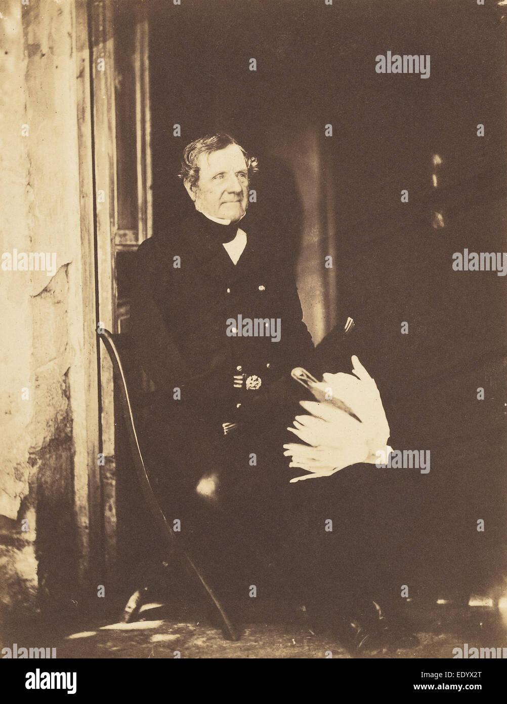 Field Marshall Lord Raglan; Roger Fenton, English, 1819 - 1869; Ukraine, Crimea, Europe; June 4, 1855; Salted paper - Stock Image