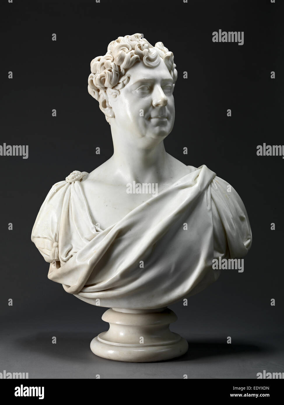 George IV Chiseled on supporting column on back of bust: 'GEORGE IV. | EXECUTED BY PERMISSION. | FOR J. WATTS - Stock Image