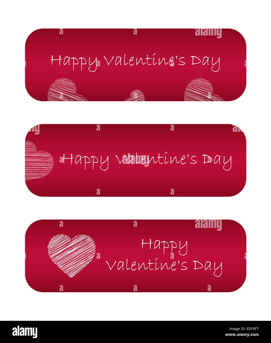 Valentine day banners - Stock Image