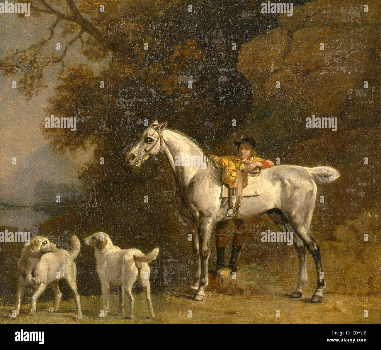 Studies for or after 'The 3rd Duke of Richmond with the Charleton Hunt' Huntsman with a Grey Hunter and - Stock Image