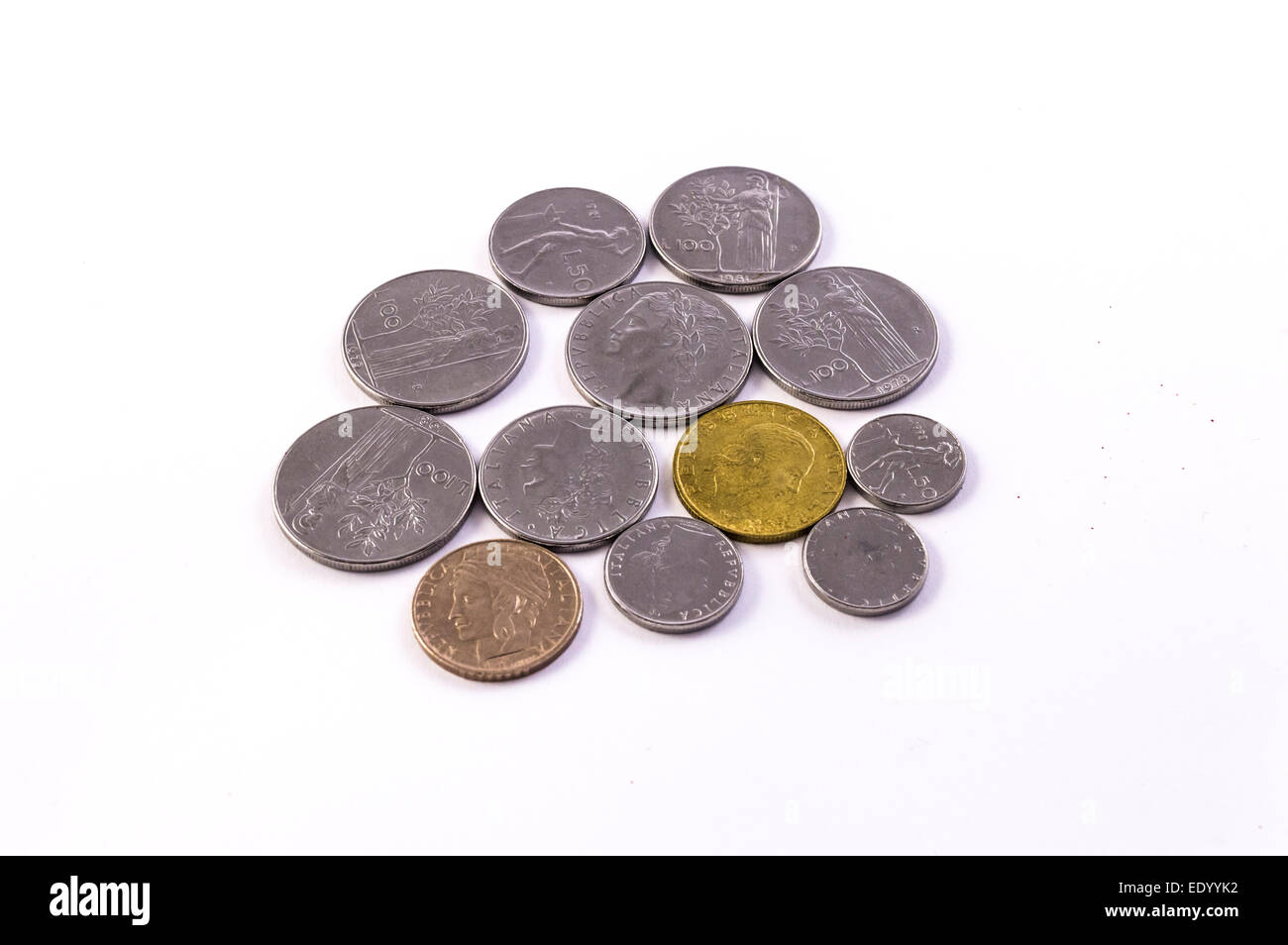 italian lira Stock Photo