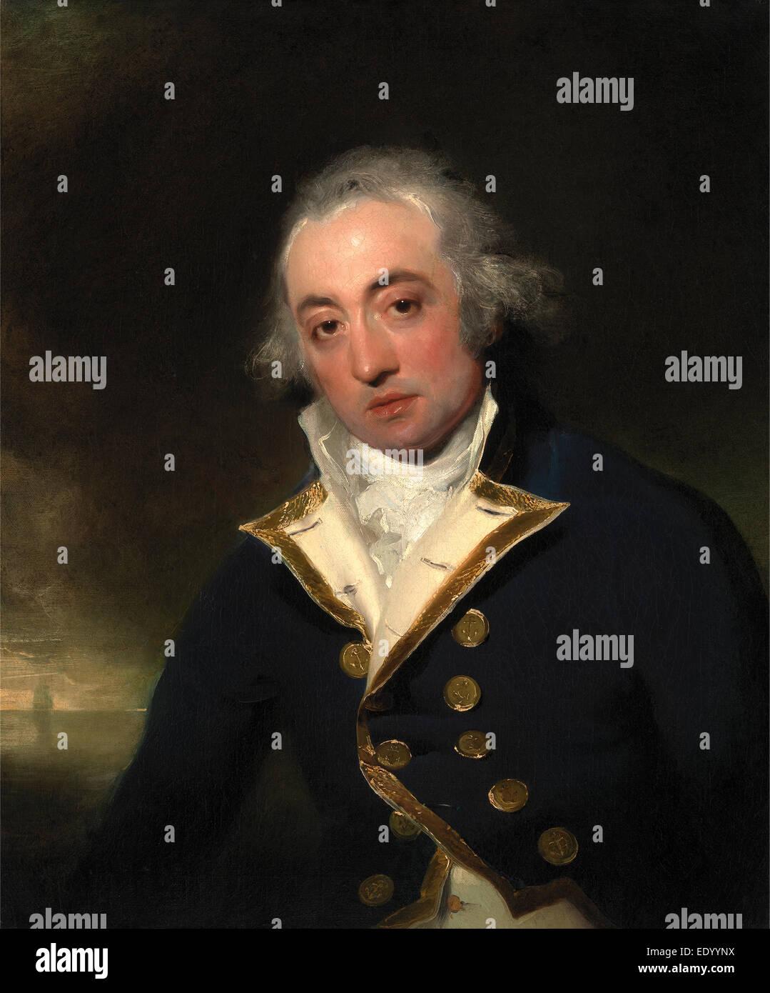 Admiral John Markham, Sir Thomas Lawrence, 1769-1830, British - Stock Image